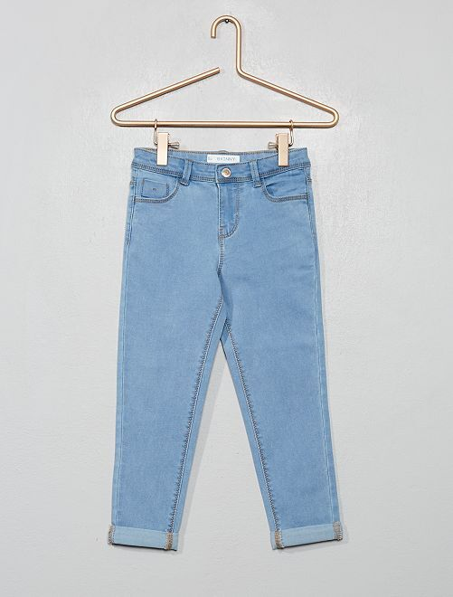 Pantacourt en jean                                         bleu clair