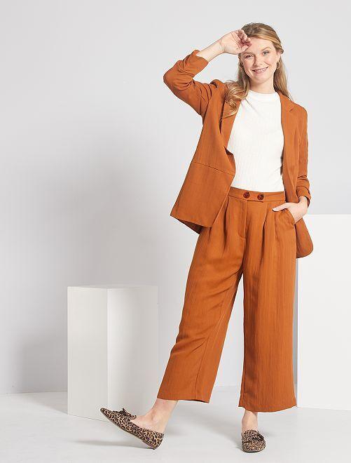 Pantacourt léger large                             marron