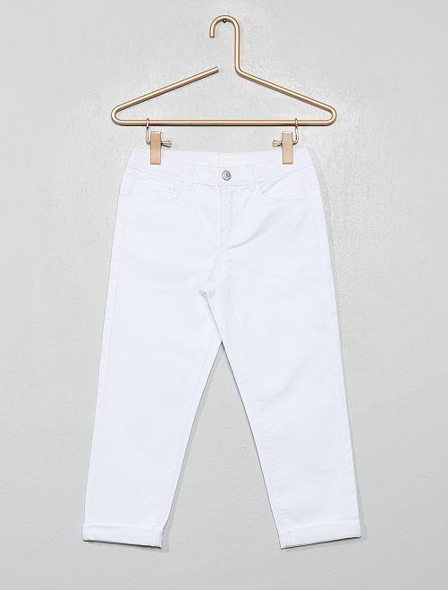 Pantacourt skinny                                                     blanc