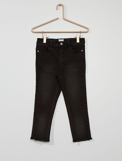 Pantacourt skinny en coton stretch éco-conçu                                                     noir