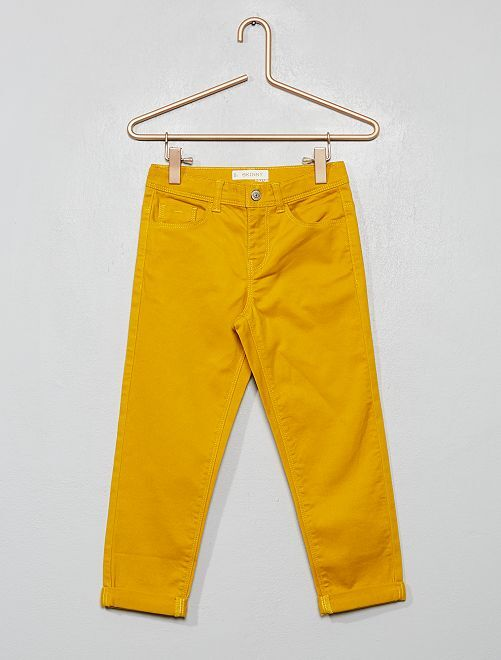 Pantacourt skinny                                                                                         jaune