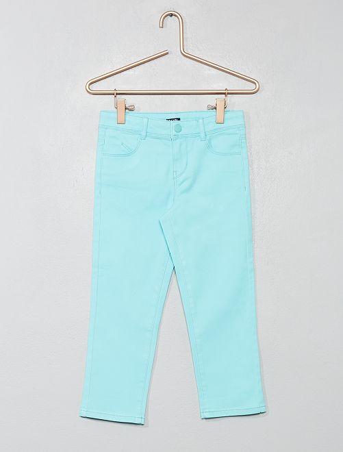 Pantacourt slim uni                                                                             bleu turquoise
