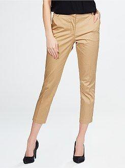 Femme du 34 au 48 Pantalon 7/8 ème en satin de coton