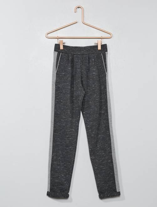 Pantalon à bandes latérales                                 gris foncé