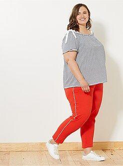 Pantalon - Pantalon à bandes latérales - Kiabi