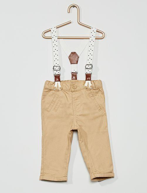 Pantalon à bretelles                                         beige