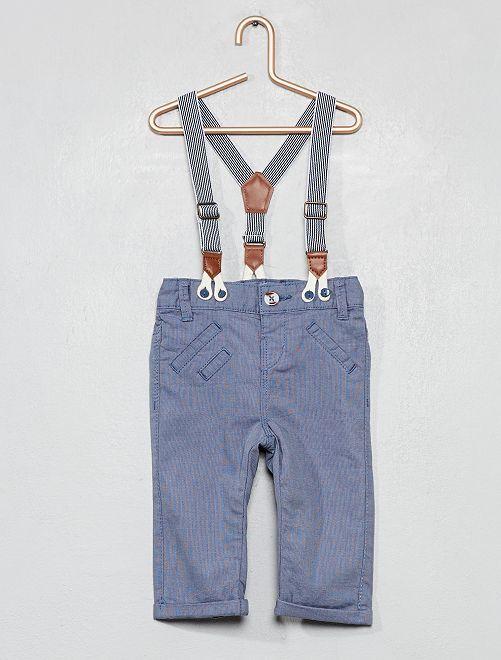 Pantalon à bretelles                             bleu Bébé garçon
