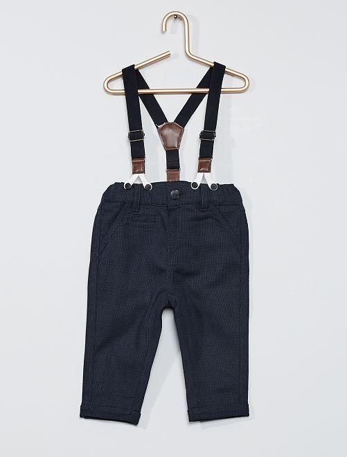 Pantalon à bretelles cérémonie                             bleu
