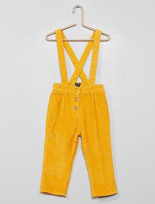 Pantalon à bretelles                                                     jaune