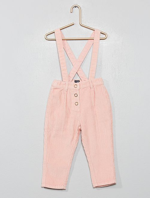 Pantalon à bretelles                                                     rose