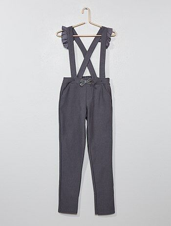 Pantalon à bretelles volantées - Kiabi