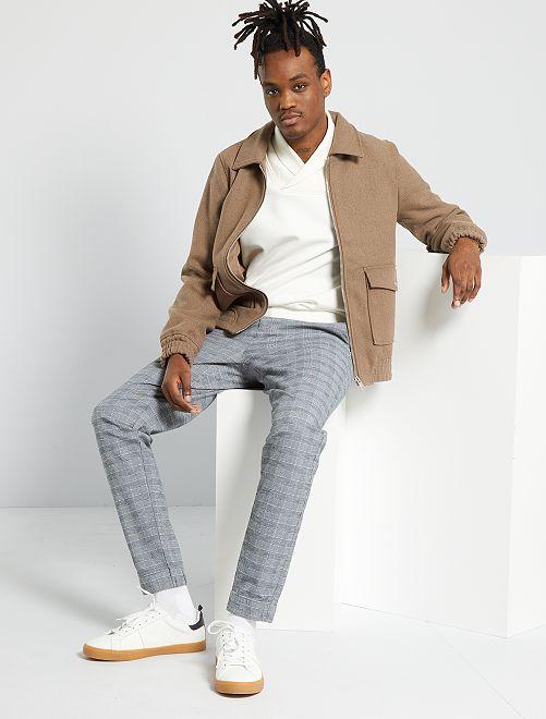 Pantalon à carreaux                             carreaux