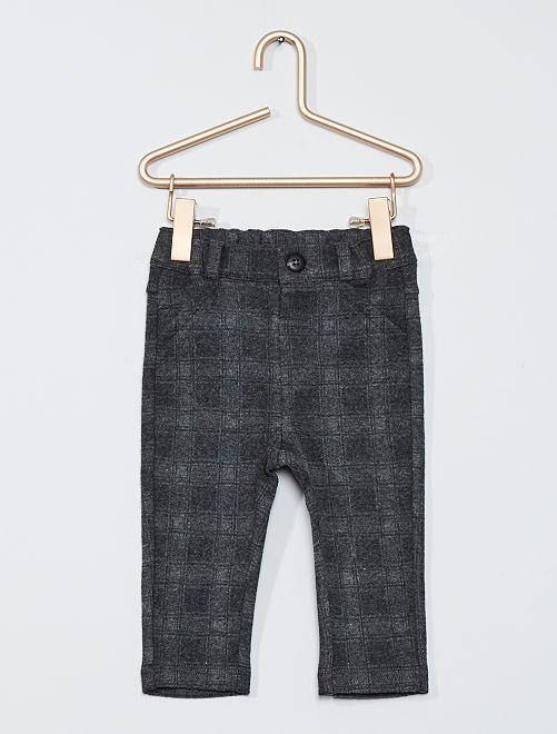 Pantalon à carreaux                             gris / carreaux