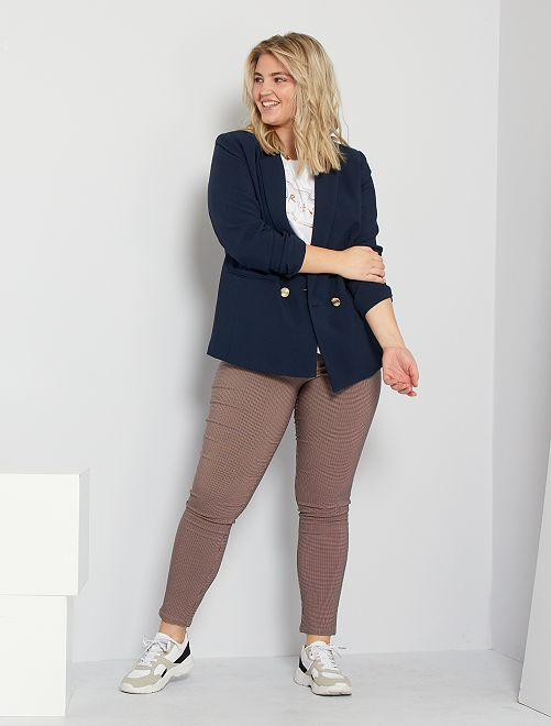 Pantalon à carreaux                             rouge/bleu marine