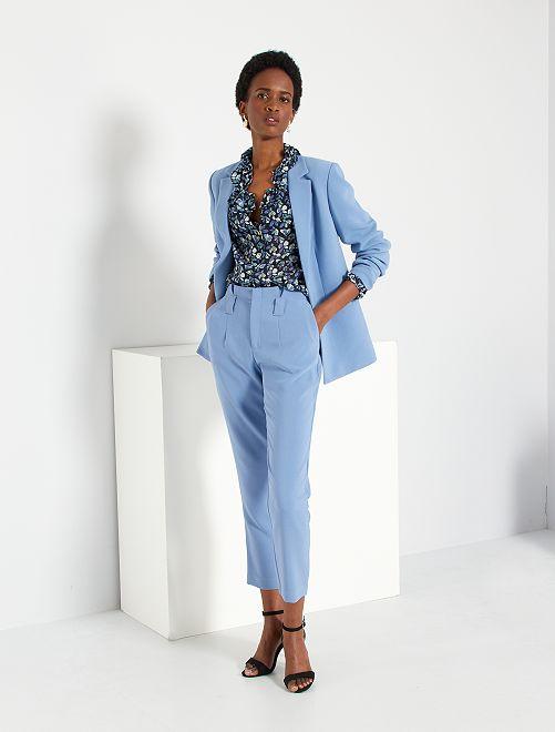 Pantalon à pinces                             bleu grisé