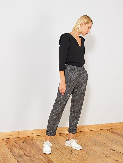 Pantalon à pinces                             gris Femme