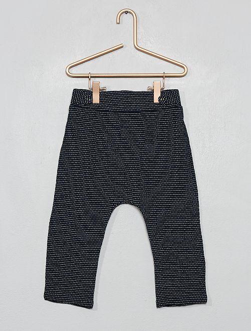 Pantalon à pois                             bleu marine