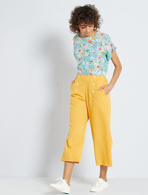 Pantalon à pont                                                                 jaune