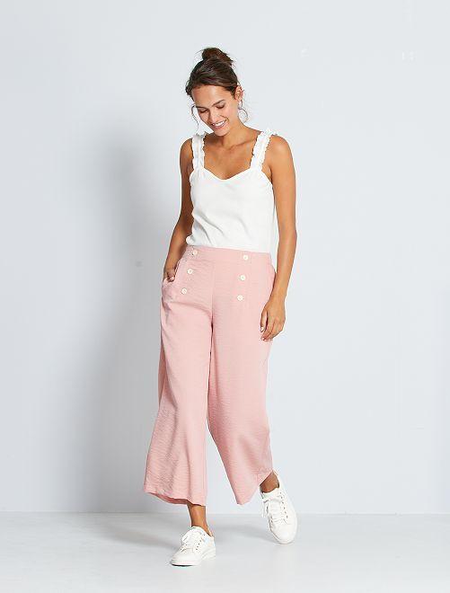 Pantalon à pont                                         rose
