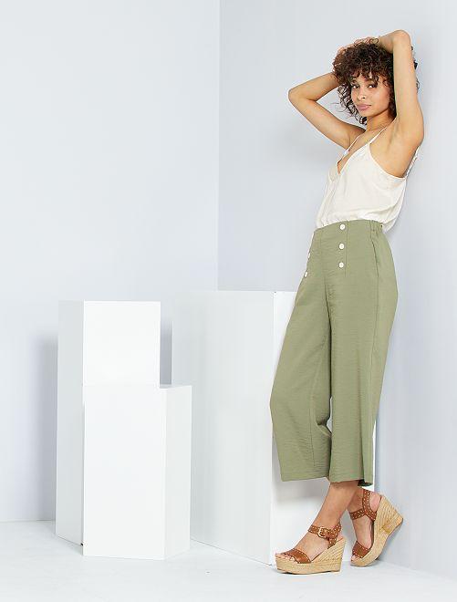 Pantalon à pont                                                                 vert lichen