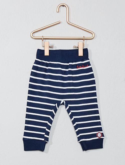 Pantalon à rayures 'Little Marcel'                                         bleu Bébé garçon