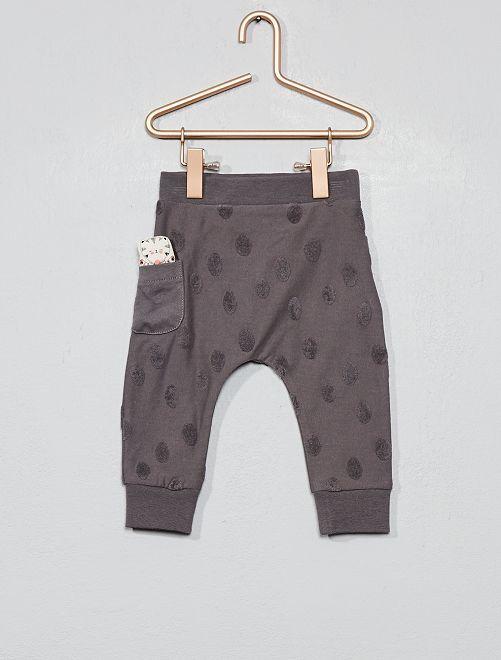 Pantalon animation géométrique                                                     gris Bébé fille