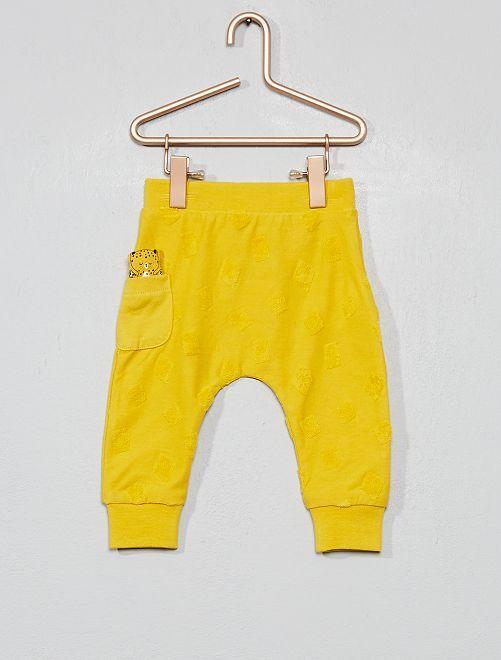 Pantalon animation géométrique                     jaune