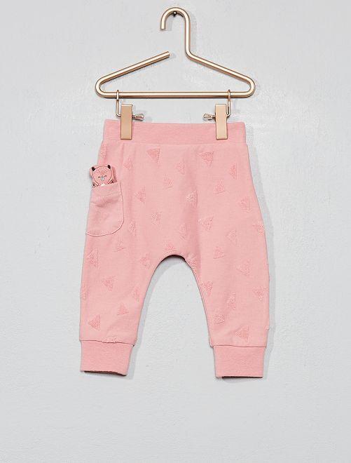 Pantalon animation géométrique                                                     rose Bébé fille