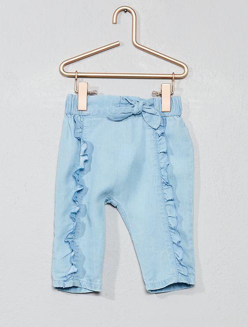 Pantalon animation volants                             bleu clair Bébé fille