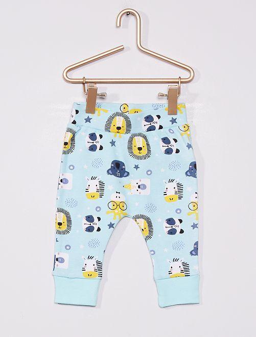 Pantalon 'Animaux'                             bleu