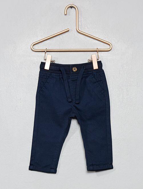 Pantalon avec cordons de serrage                                                                             bleu marine