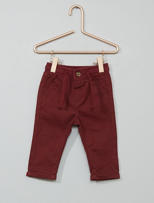 Pantalon avec cordons de serrage                                                                             bordeaux