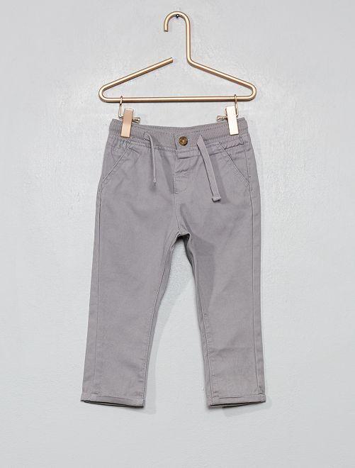 Pantalon avec cordons de serrage                                                                             gris