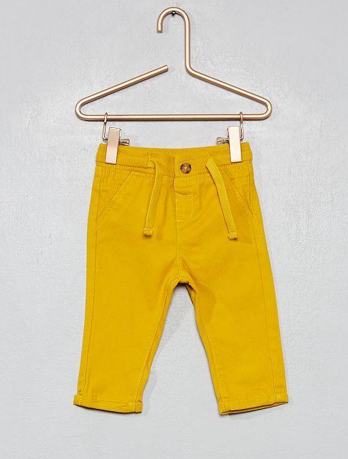 Pantalon avec cordons de serrage                                                                             jaune moutarde
