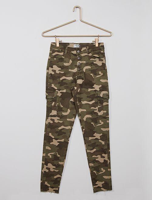 Pantalon battle éco-conçu                                                     imprimé camouflage
