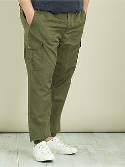 Pantalon - Pantalon battle en lin et coton - Kiabi