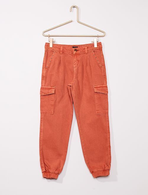Pantalon battle en twill                                 orange