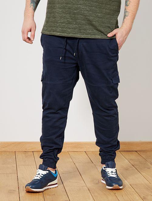 Pantalon battle esprit jogging                                         bleu marine Grande taille homme