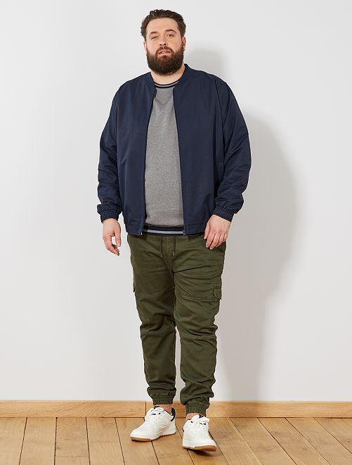 pantalon battle esprit jogging grande taille homme kaki. Black Bedroom Furniture Sets. Home Design Ideas