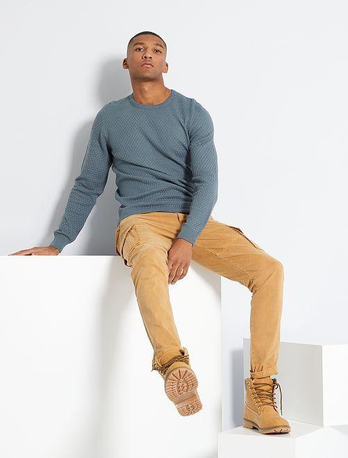 Pantalon battle slim                                                     beige