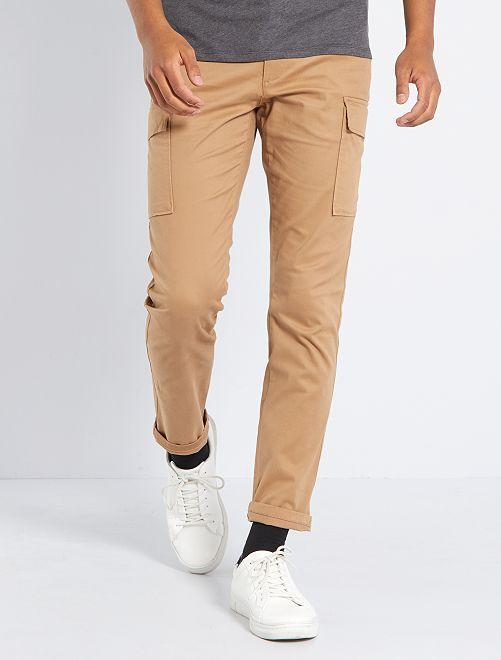 Pantalon battle slim éco-conçu                                                                 beige
