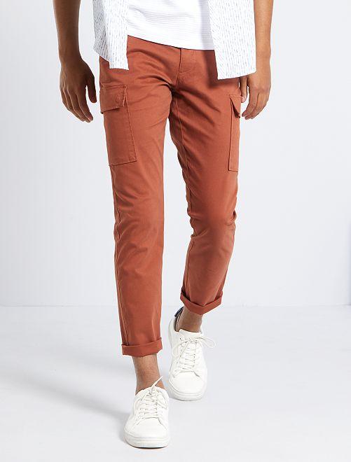 Pantalon battle slim éco-conçu                                                                 orange rouille