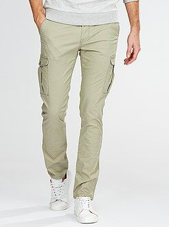 Pantalon battle slim en twill