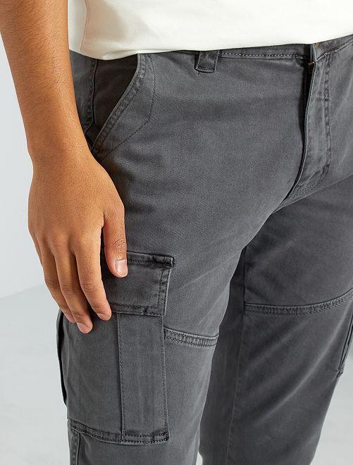 Pantalon battle slim                                                                 gris