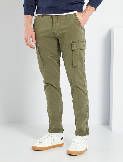 Pantalon battle slim                                                                 kaki