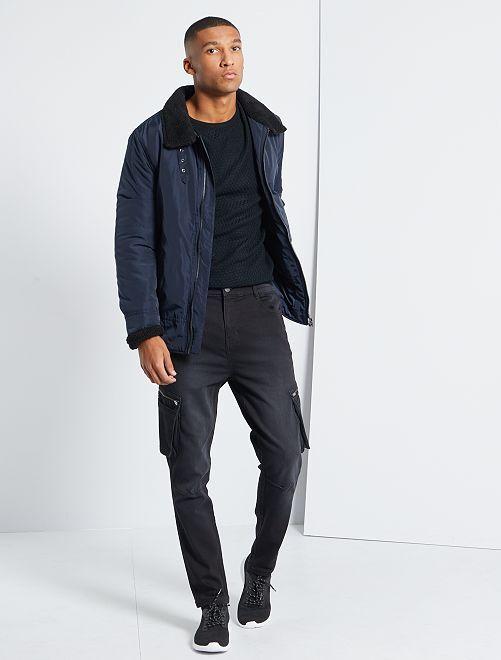 Pantalon battle taille élastiquée                                         noir