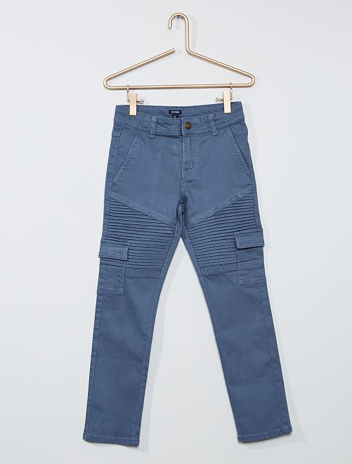 Pantalon 'biker'                                                                 bleu