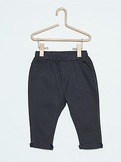 Pantalon bimatière twill et molleton