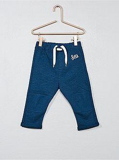 Pantalon, jean, legging - Pantalon brodé en molleton - Kiabi
