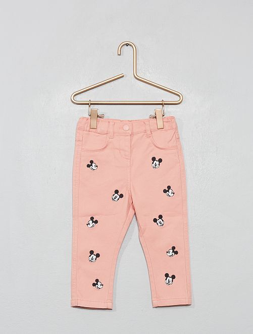 Pantalon brodé 'Mickey'                             vieux rose